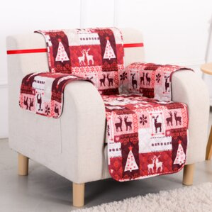Christmas Box Cushion Armchair Slipcover by Pegasus Home Fashions