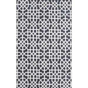 Tile Indigo/Cream Indoor/Outdoor Hand Woven Area Rug