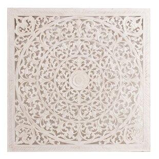 White Carved Wooden Wall Art Wayfair Co Uk