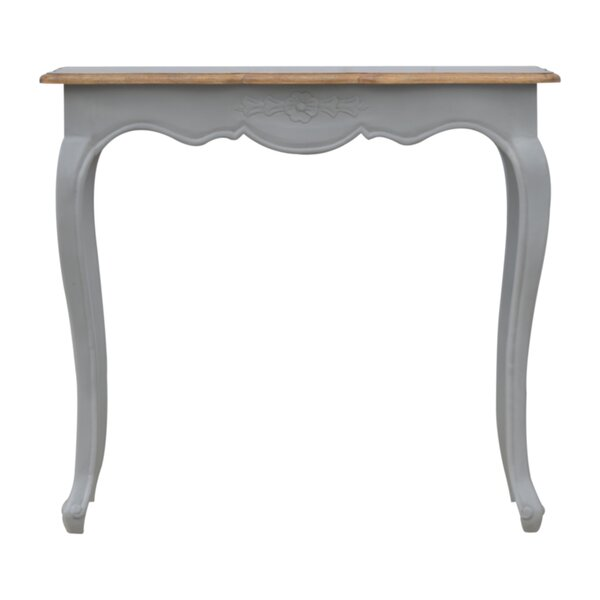 Furniture 100% Quality Solid Mahogany French Chateau Style Antique White Carved Console Hall Table Antiques