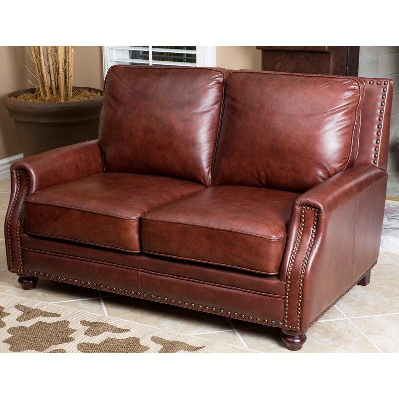 Havana Leather Loveseat