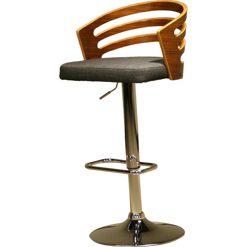 modern wood adjustable height swivel bar stool - Modern Swivel Bar Stools