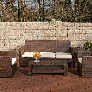 4-tlg. Gartengarnitur-Set Cabana mit Kissen von Home & Haus