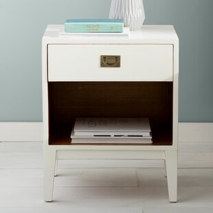 White Lacquer Nightstand Wayfair