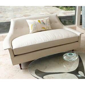 Brigitte Cowhide Leather Loveseat by Global Views