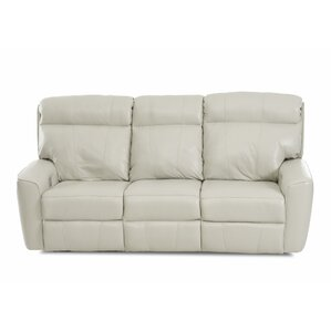 Chau Solid Power Reclining Sofa by Red Barre..