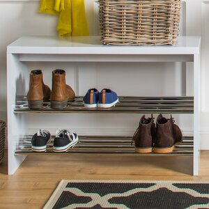 Stapelbares Schuhregal für 6 Paar Schuhe von H..