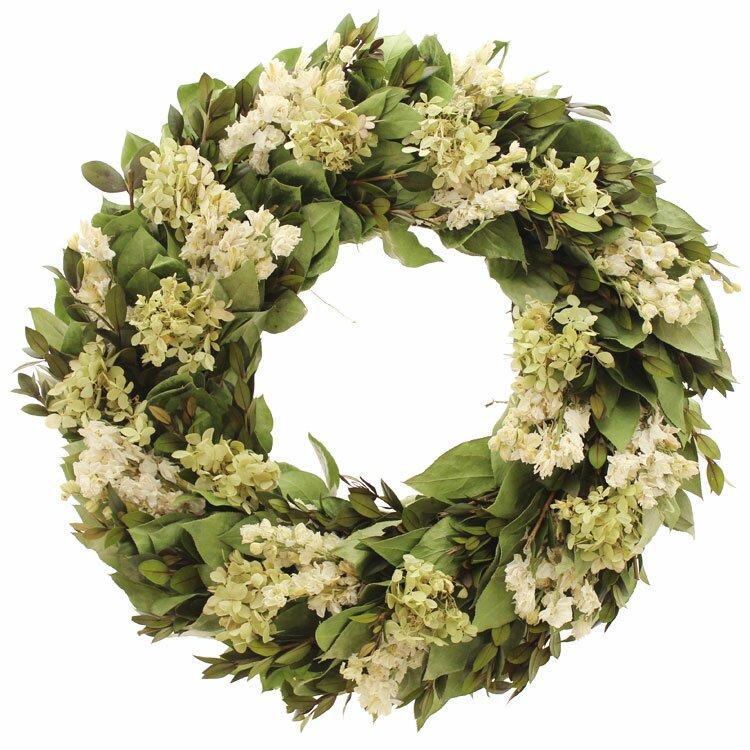 Floral Treasure Kings Garden Hydrangea/Natural Leaf Wreath