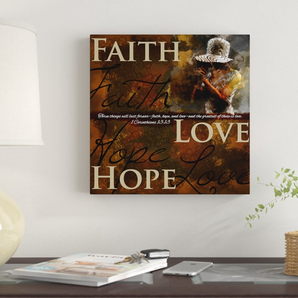 Winston Porter Faith Hope Love Inspirational African American Graphic Art Print On Canvas Wayfair