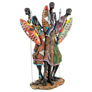 Zulu Warriors of Kenya Figurine
