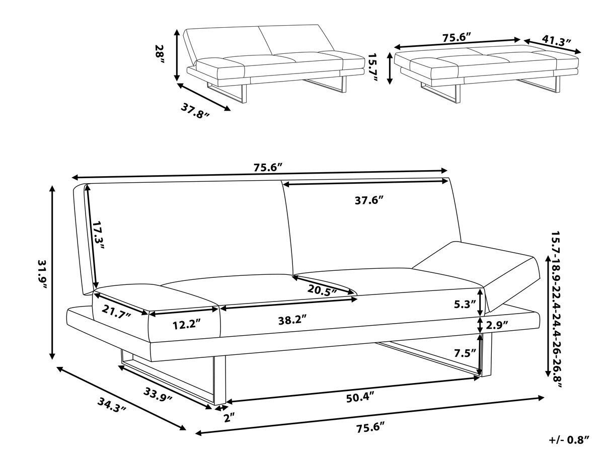 Kent 4 Seater Sofa Bed