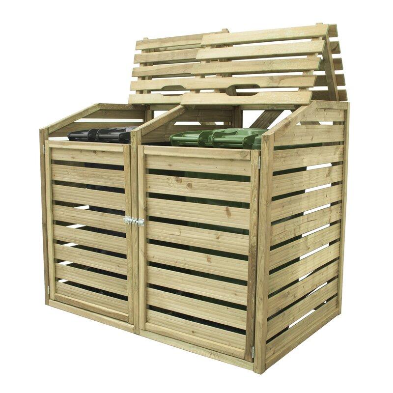 forest garden wooden double bin store  u0026 reviews