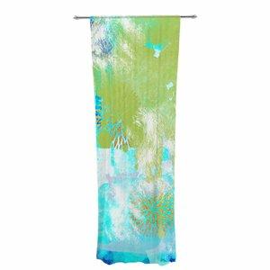 Li Zamperini Tropical Abstract Sheer Rod Pocket Curtain Panels Panels (Set of 2)