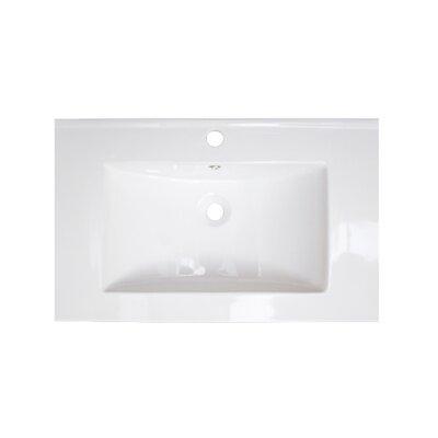 "25"" Single Bathroom Vanity Top American Imaginations Faucet Mount: Single, Hardware Finish: Aluminum"