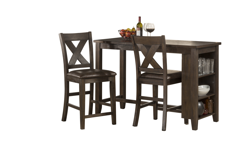 Balthrop Spencer 3 Piece Counter Height Dining Set