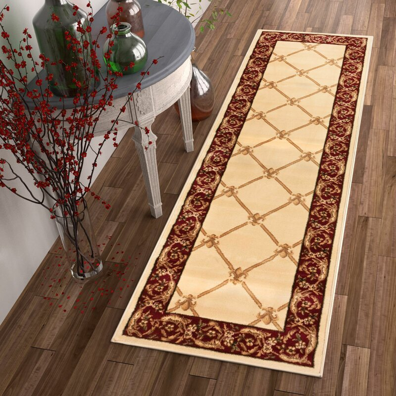 Astoria Grand Temples Fleur De Lis Ivory Area Rug Reviews Wayfair