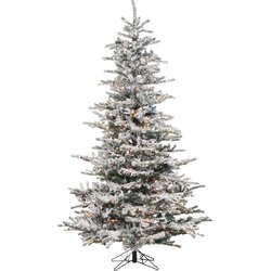prelit 85u0027 white spruce trees artificial christmas tree with 750 clear u0026 white lights - Fake Christmas Trees
