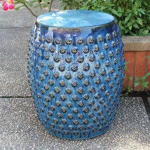 Hardwick Drum Ceramic Garden Stool