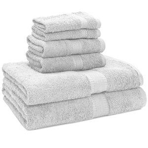 100% Egyptian Quality Cotton Premium 6 Piece Towel Set