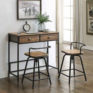 Buck 3 Piece Breakfast Nook Dining Set