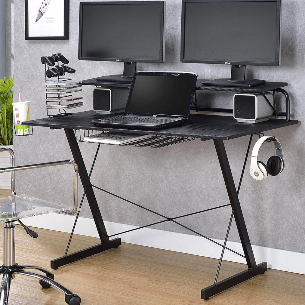 Ebern Designs Bickel Gaming Computer Desk & Reviews | Wayfair
