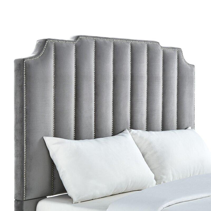 100 gray velvet headboard handmade custom queen size velvet