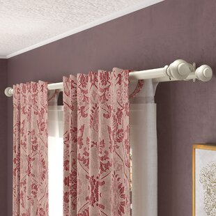 White Cafe Curtain Rod