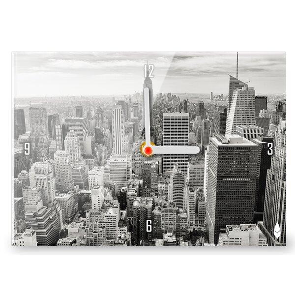 hourleaf wanduhr new york skyline. Black Bedroom Furniture Sets. Home Design Ideas