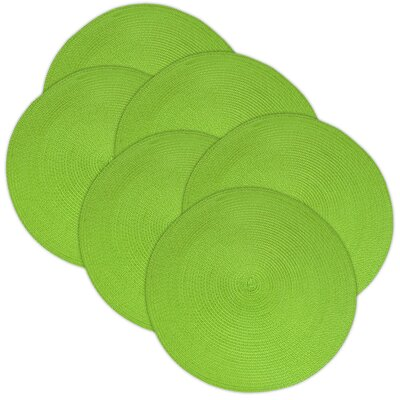 Birch Lane™ Heritage Round Braided Placemats Color: Lime
