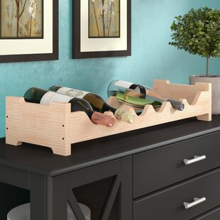 Lundgren Mini Scalloped 6 Bottle Tabletop Wine Rack