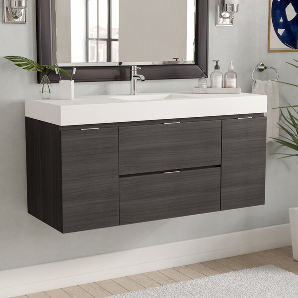 bathroom cabinets next wade logan tenafly 48 quot single wall mount modern bathroom 11327