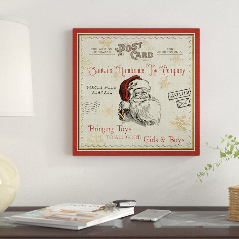 'North Pole Express I' Acrylic Painting Print on Wrapped Canvas