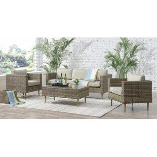 Olena 4 Piece Sofa Set With Cushions