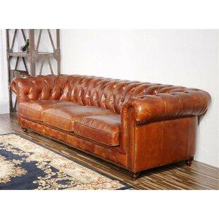 leather tufted sofas you ll love wayfair rh wayfair com savile dark saddle brown leather tufted sofa