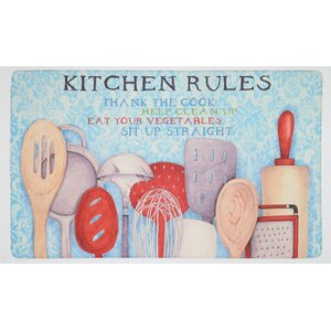 Gormley Rules with Utensils Dri- Pro Comfort Kitchen Mat