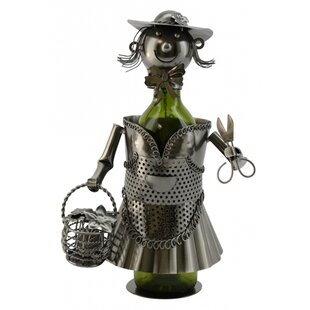 Lady Gardener 1 Bottle Tabletop Wine Rack