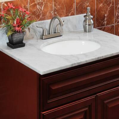 Pleasant Cara White 37 Single Bathroom Vanity Top Download Free Architecture Designs Grimeyleaguecom