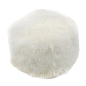 Sabra Lamb Fur Pouf by Uni..