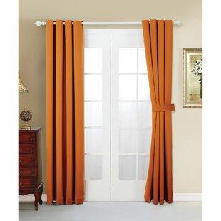 Burnt Orange Blackout Curtains