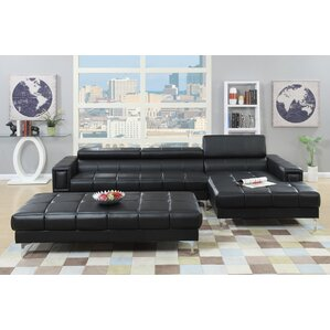 Poundex Bobkona Hayden Reclining Sectional