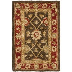 Dynasty Olive U0026 Rust Oriental Wool Hand Tufted Area Rug
