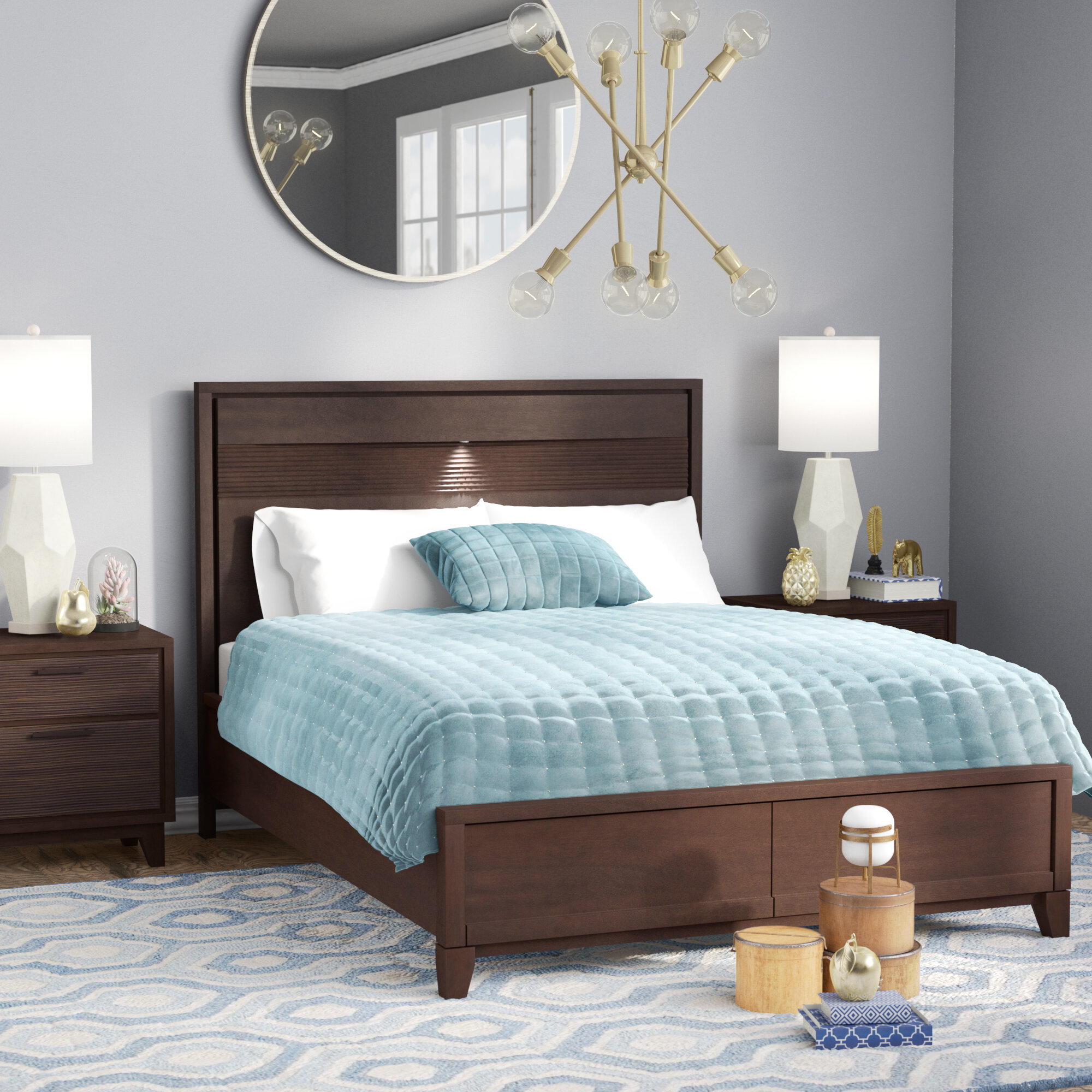 Langley Street Cornwall Panel Bed U0026 Reviews | Wayfair