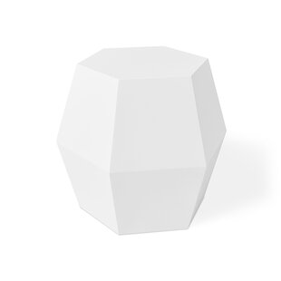 Superbe Facet 14 Drum Table Matte White