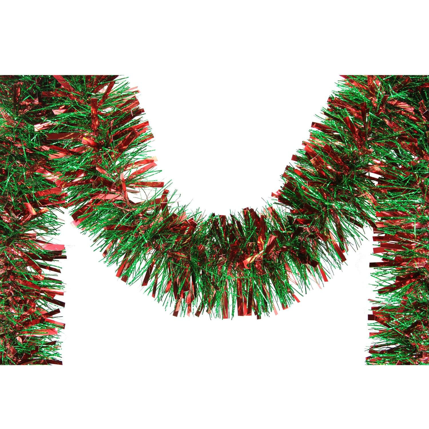 the holiday aisle 12 holographic christmas tinsel garland wayfair - Holographic Christmas Decorations
