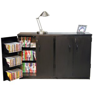Double Multimedia Storage Cabinet by R..