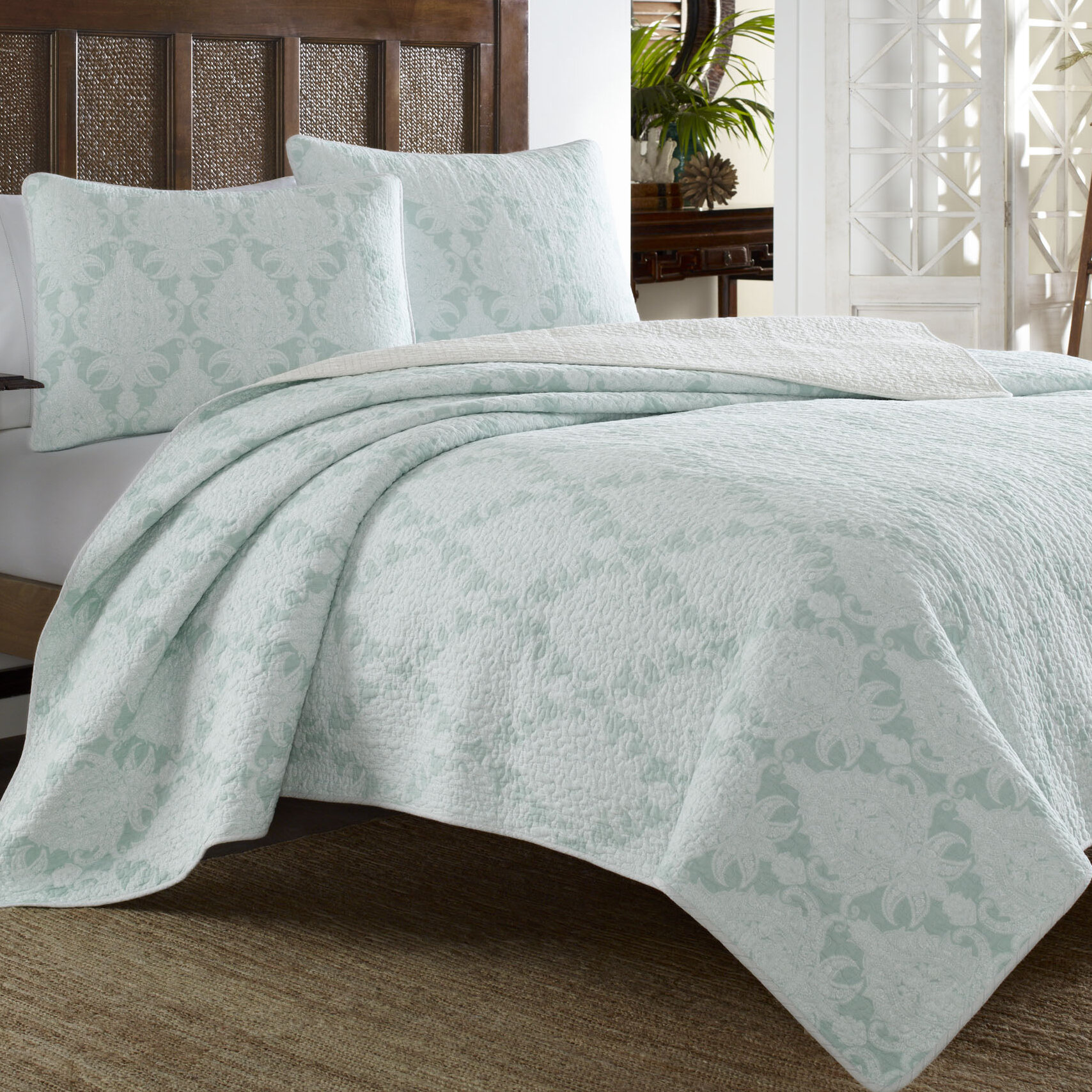 Tommy Bahama Home Cape Plumbago Reversible Quilt Set By Tommy Bahama Bedding  U0026 Reviews | Wayfair