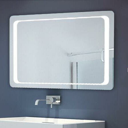 Illuminated Bathroom Mirror - Homcom Illuminated Bathroom Mirror & Reviews Wayfair.co.uk