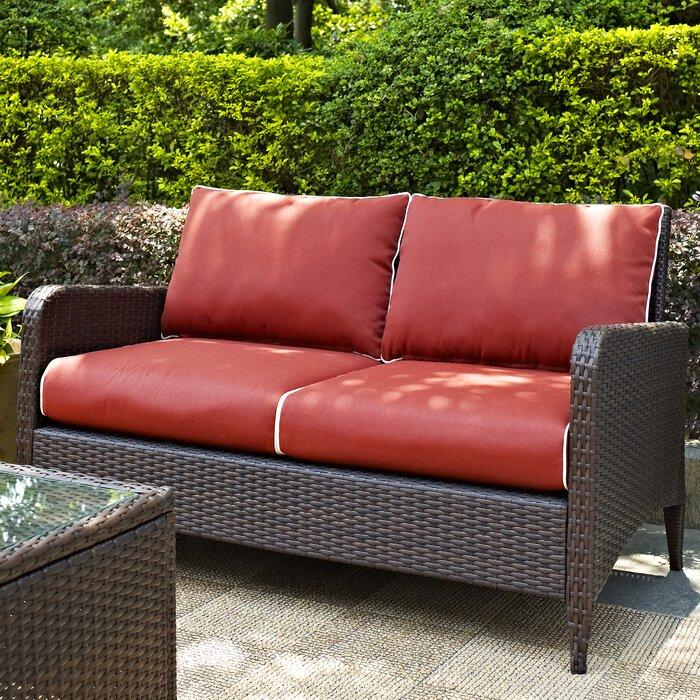 Phenomenal Mosca Patio Loveseat With Cushions Beutiful Home Inspiration Aditmahrainfo