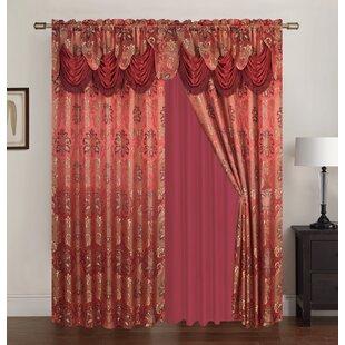 Greatest Burgundy And Gold Curtains | Wayfair EG33