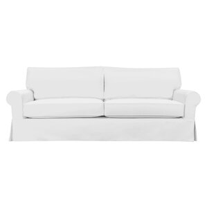 Perfect Sandy Slipcovered Sofa